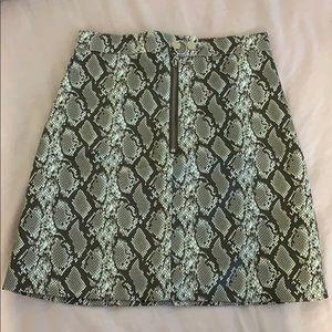 H&M Snake Printed Skirt